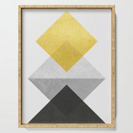 Modern and geometric art XV Serving Tray