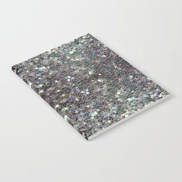 Sparkly colourful silver mosaic mandala Notebook