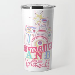 Smile and be Yourself - Pastel Camera Travel Mug