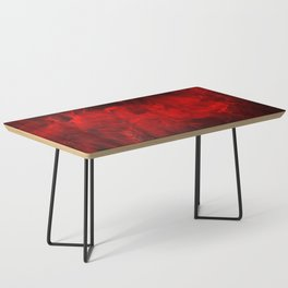 Red And Black Luxury Abstract Gothic Glam Chic by Corbin Henry Coffee Table