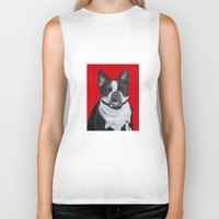 coco Biker Tanks featuring Coco by Pawblo Picasso