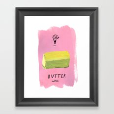 Butter Framed Art Print