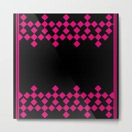 Pink Argyle Pattern Metal Print