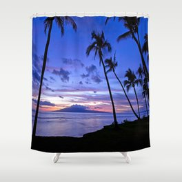 BEACH AND PALM TREES Shower Curtain