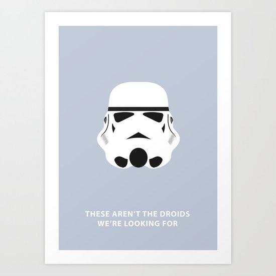 Star Wars Minimalism - Stormtrooper Art Print