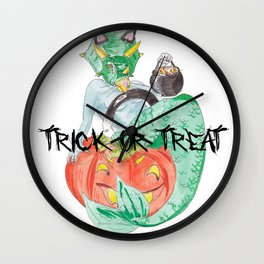 Mermasaur Kitty~HALLOWEEN Wall Clock