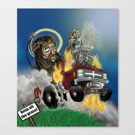 Hot-roddin' Jesus Canvas Print