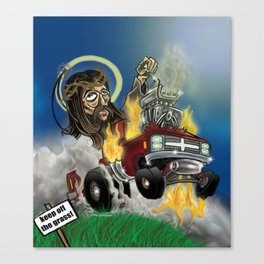 Hot-roddin' Jesus Canvas Print