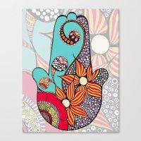 hamsa Canvas Prints featuring Hamsa by Sophia Skipka