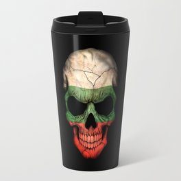 Dark Skull with Flag of Bulgaria Travel Mug