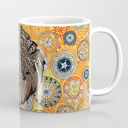 pangolin mandala sunset Coffee Mug