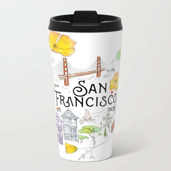 San Francisco Metal Travel Mug