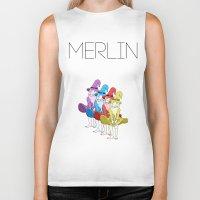 merlin Biker Tanks featuring Merlin by MajorTom