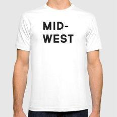 MID-WEST MEDIUM White Mens Fitted Tee