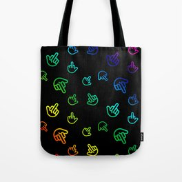 Colourful Minimal Fingers Tote Bag