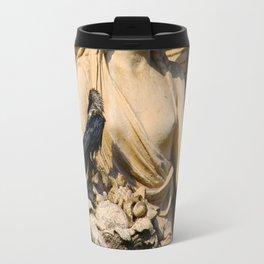 Crow on Statue Travel Mug