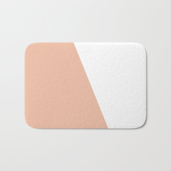 Geometric Ballet Slipper Pink + White Bath Mat