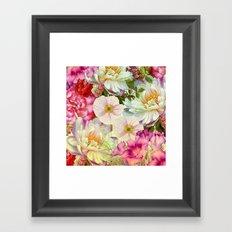 full of flowers Framed Art Print