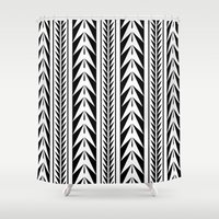 moroccan Shower Curtains featuring Moroccan Stripes by Caitlin Workman