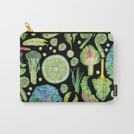 Harvest of Green - Black Carry-All Pouch