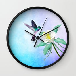 hummingbird. Wall Clock