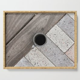 Artistic Cold Brew Shot // Wood & Stone Caffeine Pop Art Wall Hanging Coffee Shop Photograph Serving Tray