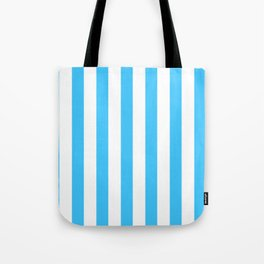 Blue and whie stripes Tote Bag