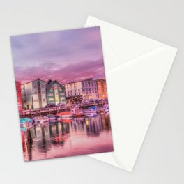 boats and houses Stationery Cards