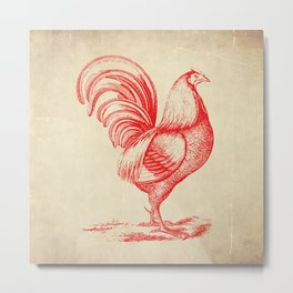 French Country Chicken Metal Print