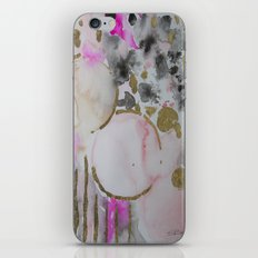 Spots or Dots Pink Abstract Painting iPhone & iPod Skin
