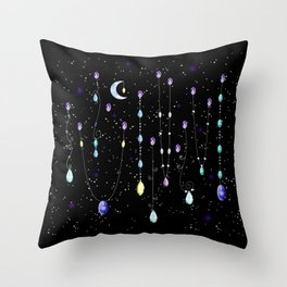 Celestial Teardrops Throw Pillow