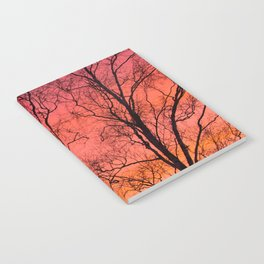 Tree Silhouttes Against The Sunset Sky #decor #society6 #homedecor Notebook