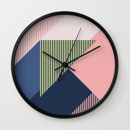 Color Blocking Minimal 1 Wall Clock
