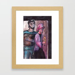 frankstein and wizard boyfriends Framed Art Print