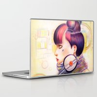 dj Laptop & iPad Skins featuring Sweet Dj by fawnfruits
