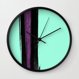 Black and Purple in the Mist Wall Clock
