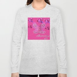 Power Pink for a Cure - The Wings of Faith Long Sleeve T-shirt