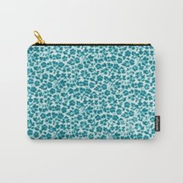 Turquoise Vintage Flowers Carry-All Pouch