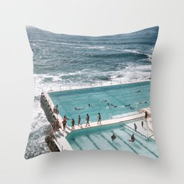 Pool and Ocean Throw Pillow