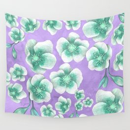 Between Blue and Purple Wall Tapestry