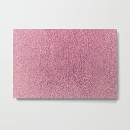 Motel Pink Shag Pile Carpet Metal Print