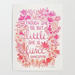 Little & Fierce – Pink Ombré Poster
