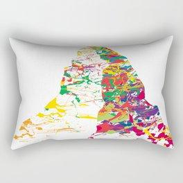 Matterhorn mountainsplash color Rectangular Pillow
