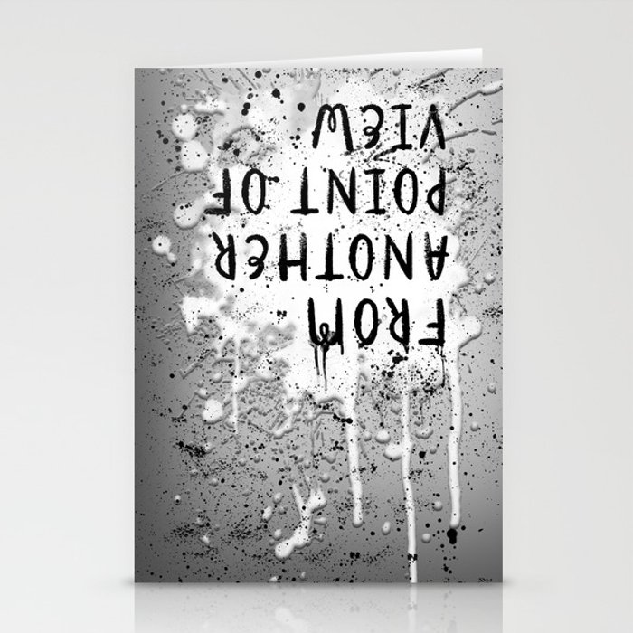 TEXT ART From another point of view | paint & splashes | grey Stationery Cards