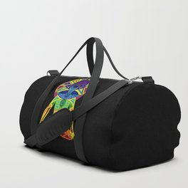 Man with Colored Chakras in Lotus Position Duffle Bag