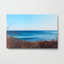 Vibrant beautiful coast of sea of Japan . Ocean horizon. Nautical background Metal Print