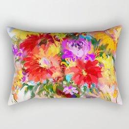 Midday flowers in vase    Rectangular Pillow