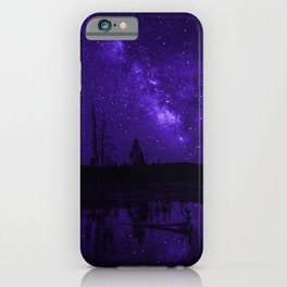 Milky Way Over Fire Hole Lake iPhone Case