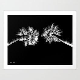 PALMS DARK Art Print