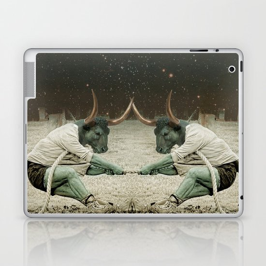 locking horns under Taurus Laptop & iPad Skin